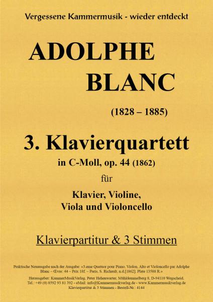 Blanc, Adolphe – 3. Klavierquartett, c-Moll, op. 44