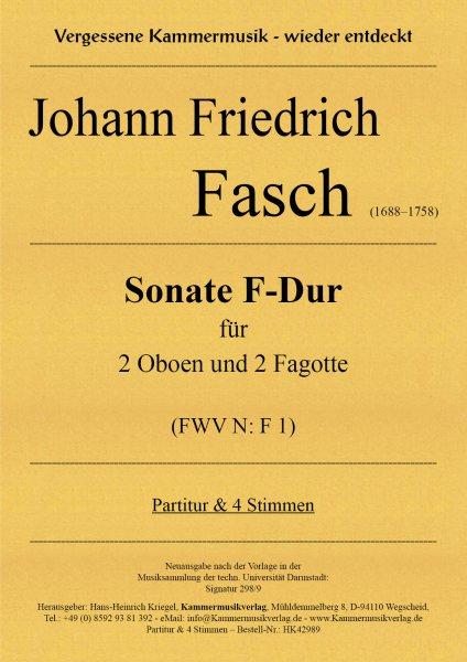 Fasch, Johann Friedrich – Sonate F-Dur für 2 Oboen und 2 Fagotte (FWV N: F 1)