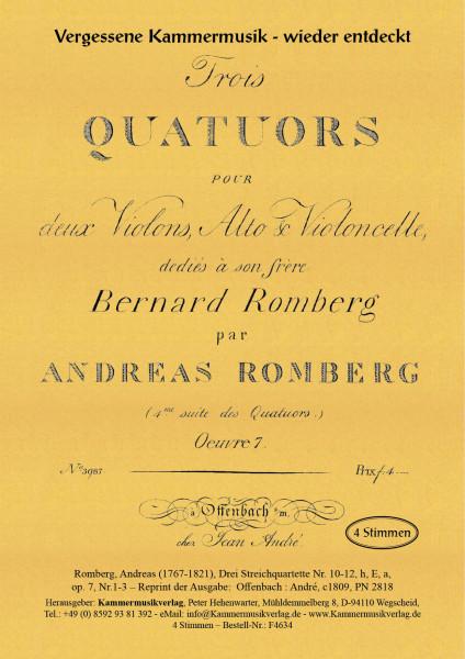 Romberg, Andreas – Drei Streichquartette Nr. 10-12