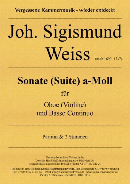 Weiss, Joh. Sigismund – Sonate G-Dur-Copy