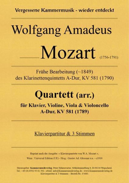 Mozart, Wolfgang Amadeus – Klavierquartett (arr.), A-Dur