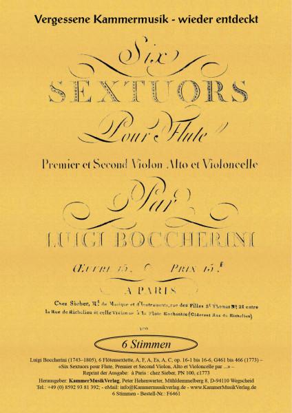 Boccherini, Luigi – 6 Flötensextette