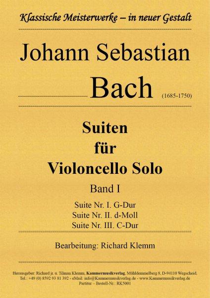 Bach, Johann Sebastian – Suiten für Violoncello Solo – Band I