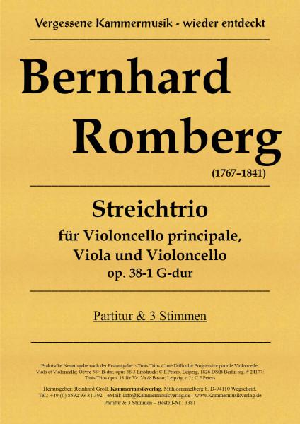 Romberg, Bernhard – Streichtrio, G-Dur, op 38-1