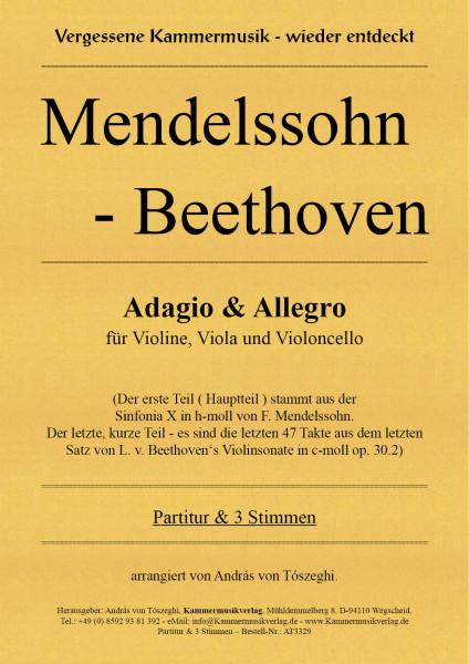 Mendelssohn-Beethoven – Adagio & Allegro für Streichtrio