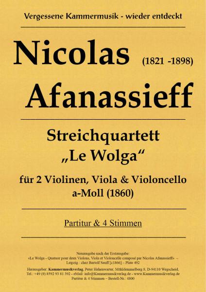 "Afanassieff, Nikolai – Streichquartett – ""Le Wolga"""
