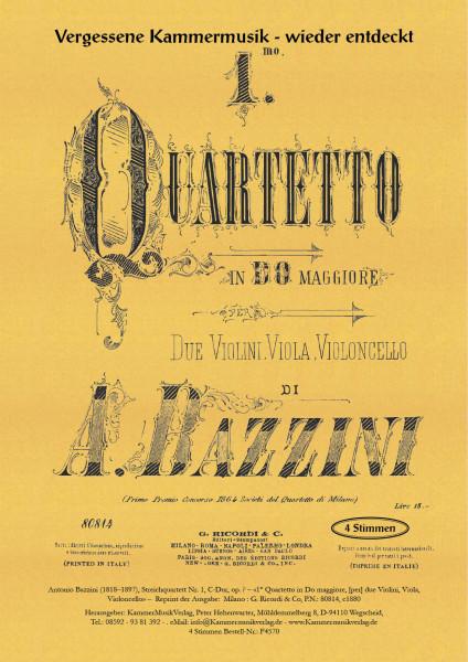 Bazzini, Antonio – Streichquartett Nr. 1, C-Dur
