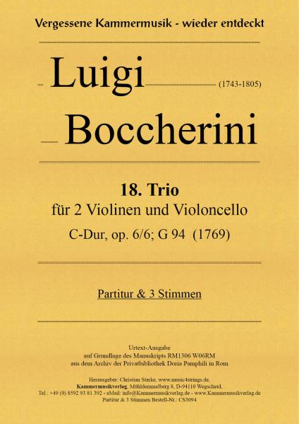 Boccherini, Luigi – 18. Trio für 2 Violinen und Violoncello
