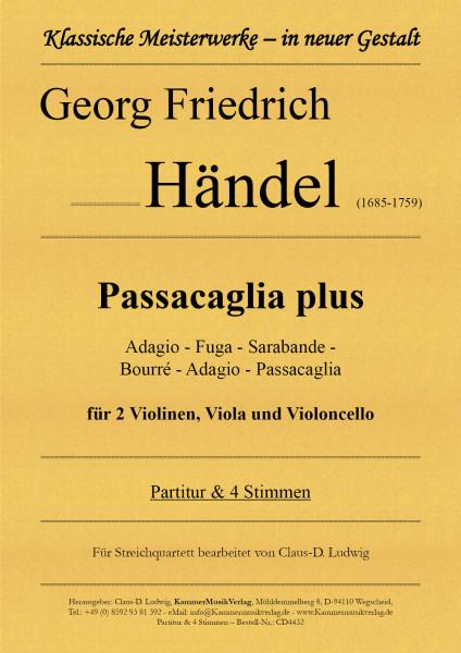 Händel, Georg Friedrich – Passacaglia plus für Streichquartett