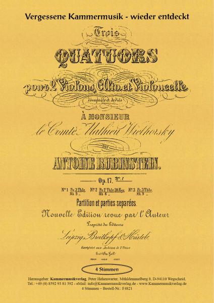Rubinstein, Anton – Streichquartett Nr. 1, G-Dur, op. 17-1