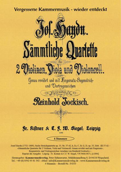 Haydn, Joseph – Sechs Streichquartette op. 33, op. 33, Hob. :III 37-42