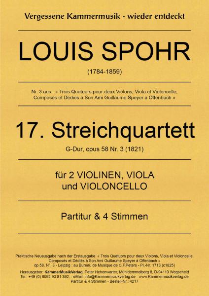 Spohr, Louis – Streichquartett Nr. 17, G-Dur, op. 58-3