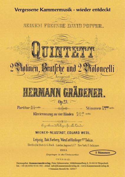 Grädener, Hermann – Streichquintett Nr. 2
