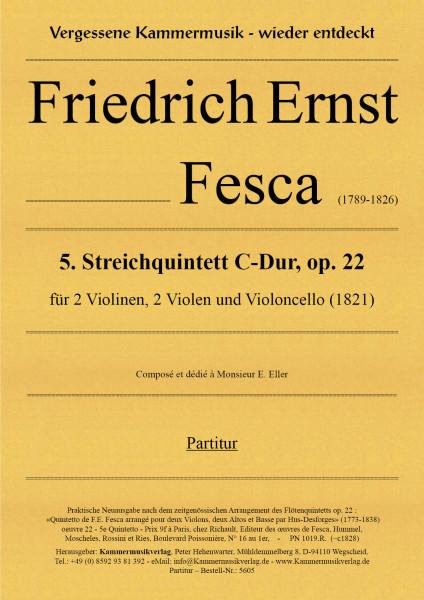 Fesca, Friedrich Ernst – Streichquintett Nr. 5, C-Dur, op. 22