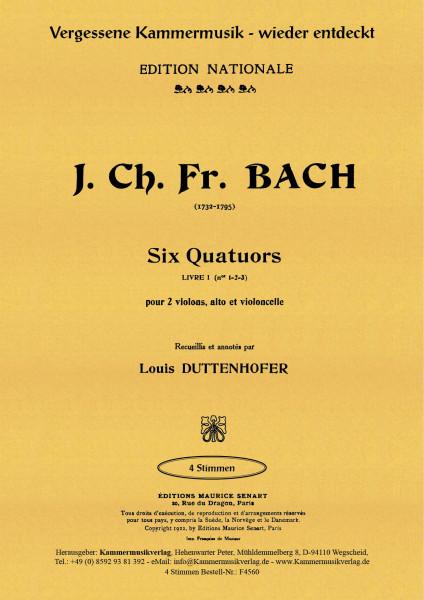 Bach (Bückeburg), Johann Christ. – Streichquartette Nr. 1-3