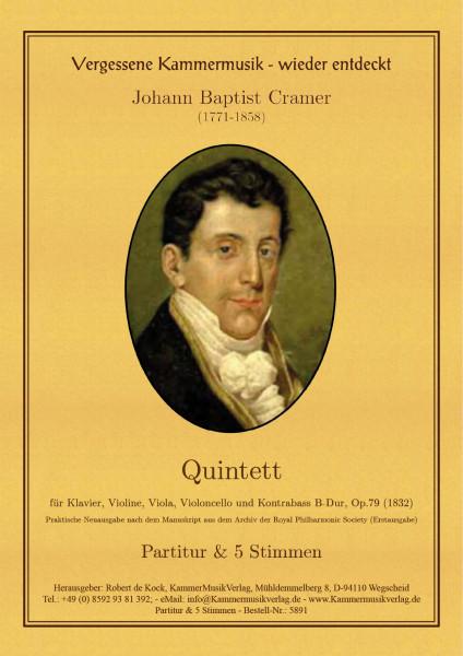 Cramer (Kramer), Johann Baptist – Klavierquintett (Forellen-Besetzung) Nr. 3
