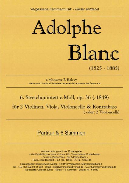 Blanc, Adolphe – Streichquintett m.Kb Nr. 6