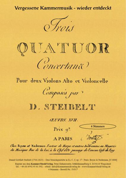 Steibelt, Daniel Gottlieb – Drei Streichquartette, in: Es-Dur, C-Dur, f-Moll, op. 17, Nr.1 - 3