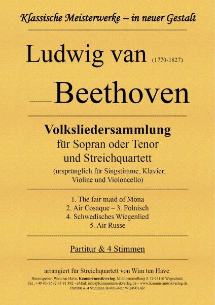 Beethoven, Ludwig van – Liedersammlung für Sopran oder Tenor und Streichquartett