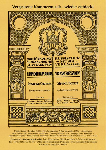Rimsky–Korsakow, Nikolai – Streichsextett, A-Dur, op.. posth. (1876)