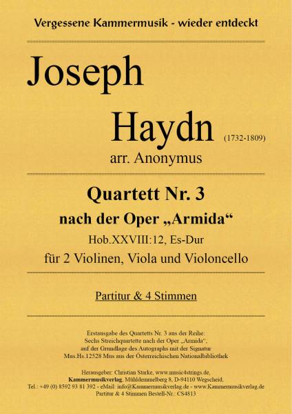 "Haydn, Joseph – Quartett Nr. 3 nach der Oper ""Armida"" in Es-Dur"