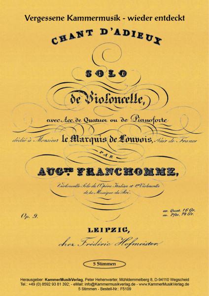 Franchomme, Auguste – Solo-Vc mit Streichquartett, C-Dur, op. 9