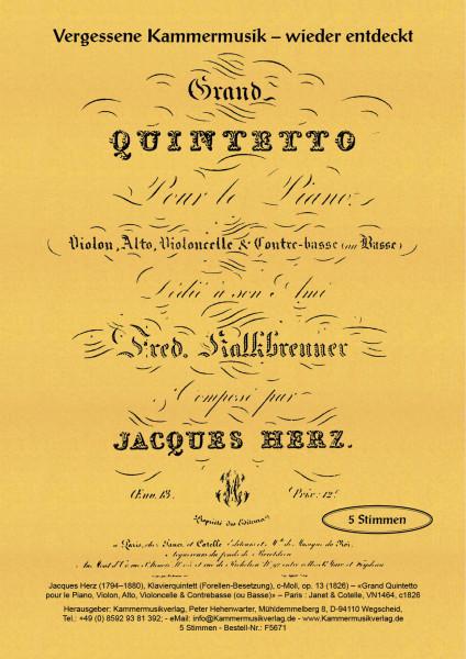 Herz, Jacques – Klavierquintett (Forellen-Besetzung), c-Moll, op. 13
