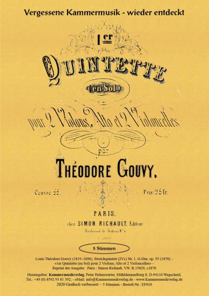 Gouvy, Louis Théodore – Streichquintett (2Vc) Nr. 1, G-Dur, op. 55
