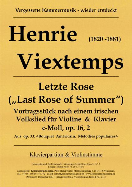 Vieuxtemps, Henri – Letzte Rose