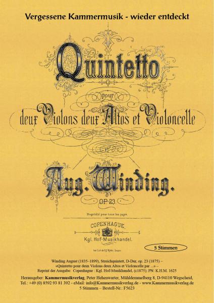 Winding, August – Streichquintett, D-Dur, op. 23
