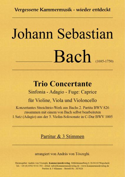 Bach, Johann Sebastian – Trio Concertante für Violine, Viola & Violoncello