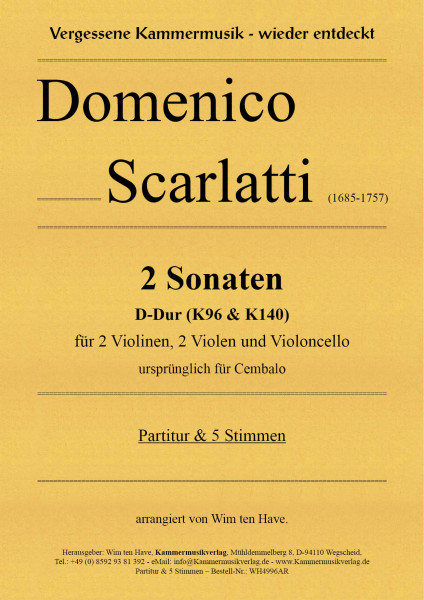 Scarlatti, Domenico – 2 Sonaten D-Dur