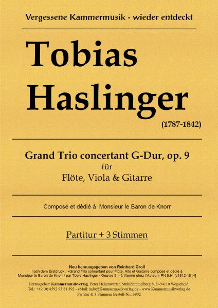 Haslinger, Tobias – Grand Trio concertant