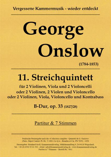 Onslow, George – Streichquintett Nr. 11, B-Dur, op. 33