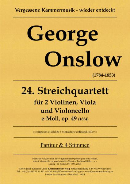 Onslow, George – Streichquartett Nr. 24, e-moll, op. 49