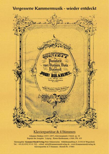 Brahms, Johannes – Klavierquintett