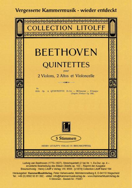 Beethoven, Ludwig van – Streichquintett (2 Va) Nr. 1