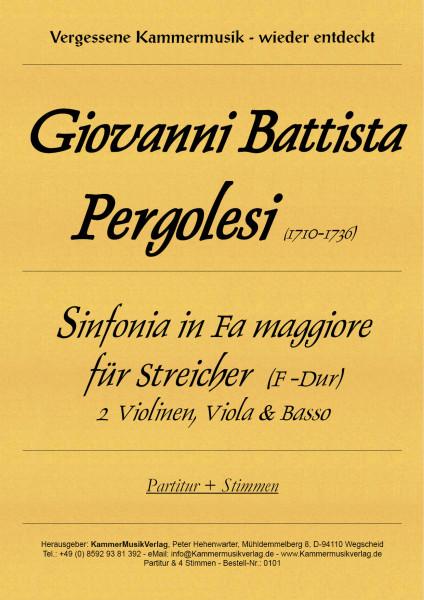 Pergolesi, Giovanni Battista – Sinfonia für Streichorchester
