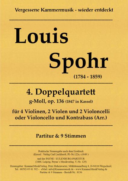 Spohr, Louis – Doppelquartett Nr. 4, g-Moll, op. 136