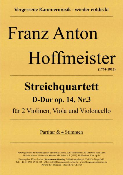 Hoffmeister, Franz Anton – Streichquartett D-Dur op. 14, Nr.3
