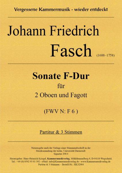 Fasch, Johann Friedrich – Sonate F-Dur für 2 Oboen und Fagott (FWV N: F 6)