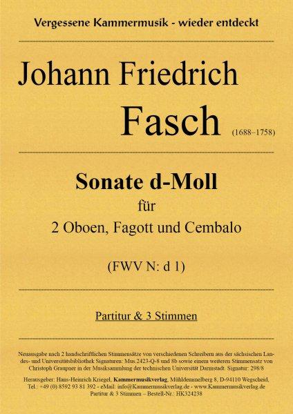 Fasch, Johann Friedrich – Sonate d-Moll für 2 Oboen, Fagott und Cembalo (FWV N: d 1)