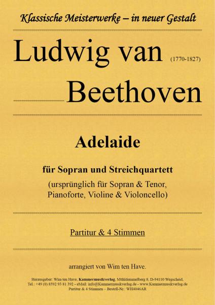 Beethoven, Ludwig van – Adelaide für Bariton und Streichquartett