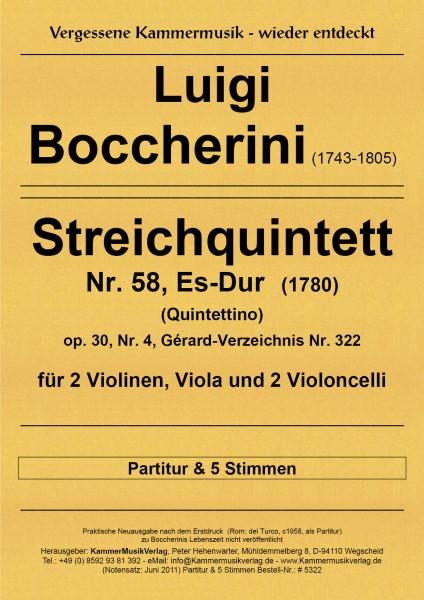 Boccherini, Luigi – 58. Quintett für 2 Violinen, Viola und 2 Violoncelli