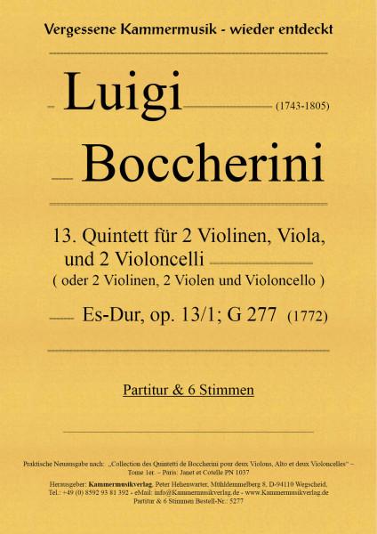 Boccherini, Luigi – 13. Quintett für 2 Violinen, Viola und 2 Violoncelli