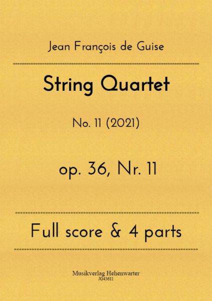 Guise, Jean François de – String Quartet No. 11