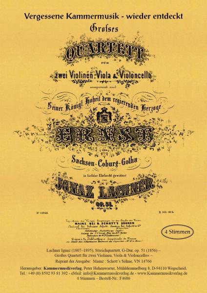 Lachner, Ignaz – Streichquartett, G-Dur, op. 51