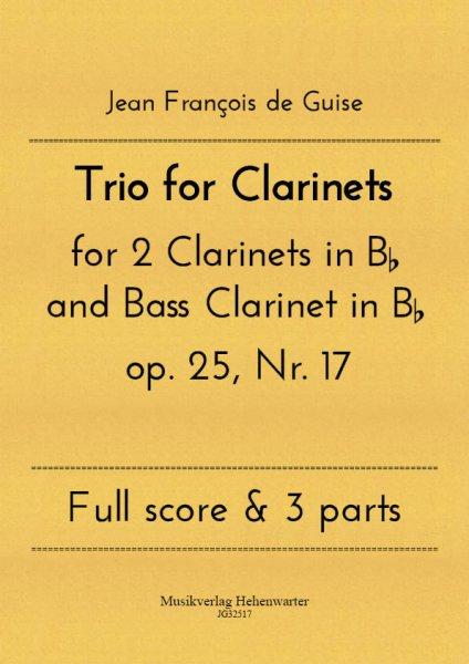 Guise, Jean François de – Trio for Clarinets