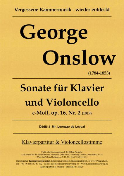 Onslow, George – Sonate für Violoncello & Klavier in c-Moll op. 16-2