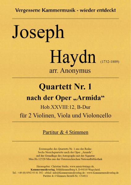 """Haydn, Joseph – Quartett Nr. 1 nach der Oper """"Armida"""" in B-Dur"""